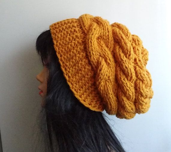 women knit  slouchy  beanie hat  Slouch Beanie  Large by Ifonka, $28.00