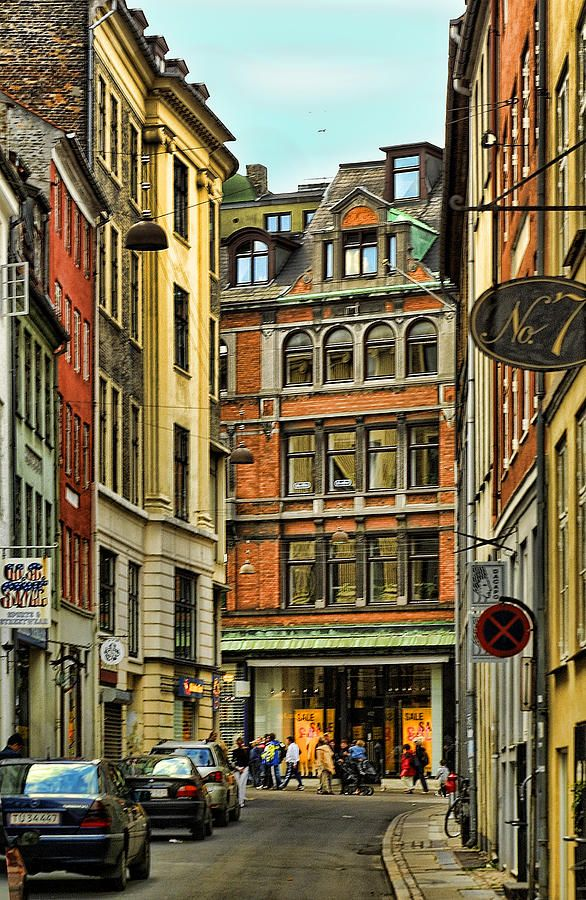 Street View Old Town Stockholm by Linda Phelps