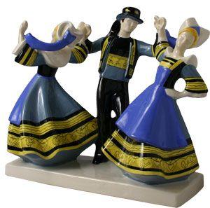 Les 3 danseurs de Pont-Aven - R. Micheau Vernez