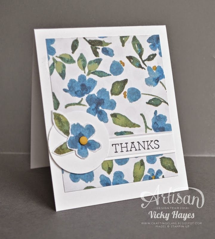 Ways to use designer paper - Painted Blooms by Stampin' Up