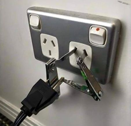 """This world traveler, who understands the importance of using a proper power adapter. 