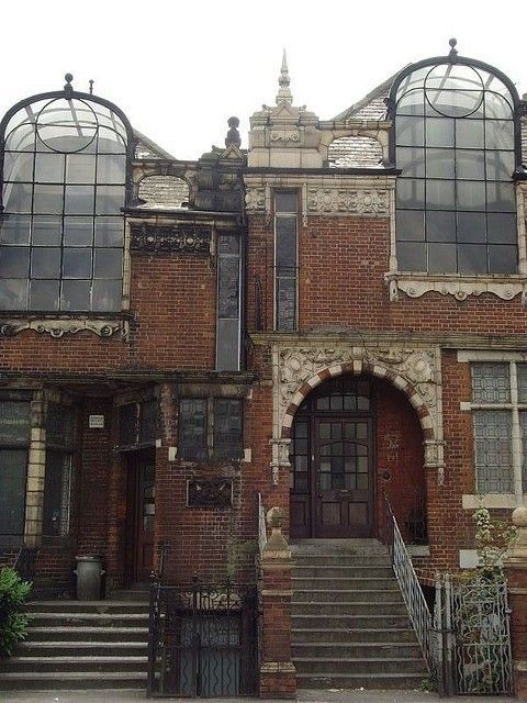 Old artist studios in London - love these - apart from motorway