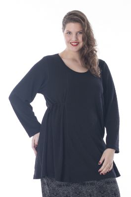 Exelle | curvy fashion | fashionable A-line tunic fitted at the waist