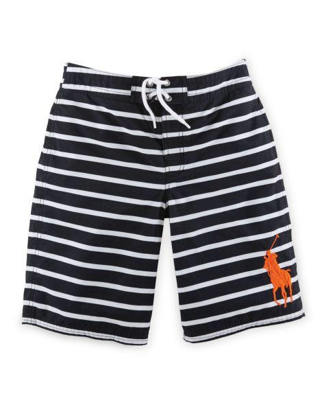 Sanibel Striped Swim Trunk - Boys 8-20 Swimwear - RalphLauren.com