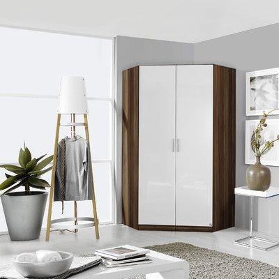 Corner wardrobe from wayfair. Rauch Celle 2 Door Wardrobe & Reviews | #cornerwardrobe