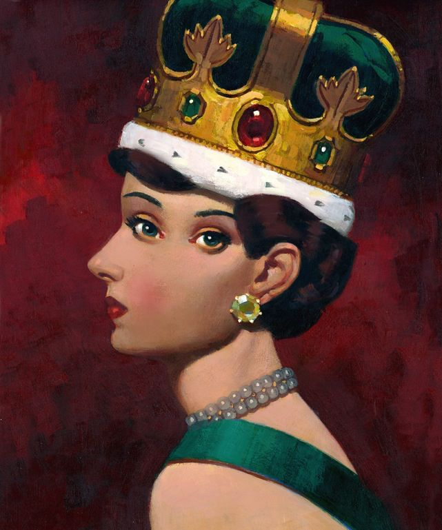 A regal queen. Companion piece to Captain Condiment.  Paul Slater