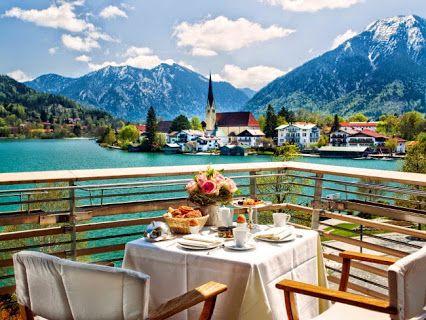 Breakfast in Bavaria-Rottach-Egern, Tegernsee, Germany