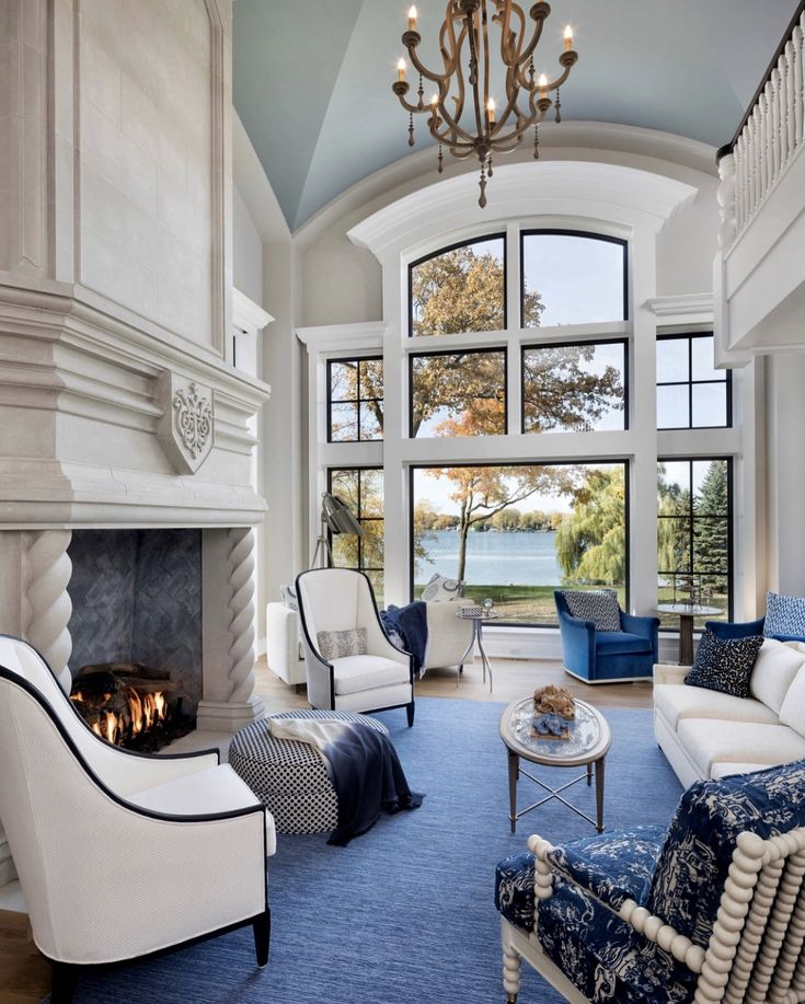 Elegant Living Room Navy Blue (With Images)