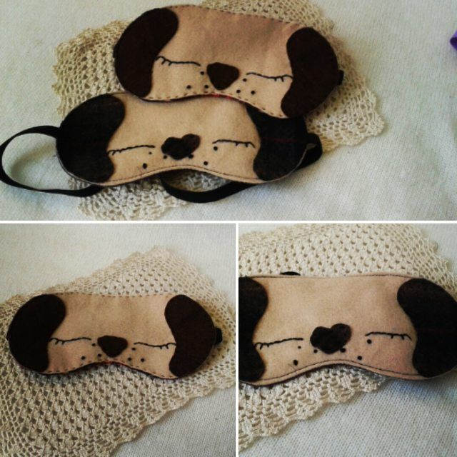 These are #handmade #sleeping mask #slipmask . I made them With #felt And are #embroidery You con find them on My #etsy Shop https://www.etsy.com/shop/MarseilleBoutique?ref=hdr_shop_menu #marseilleboutiqe  #marsidadragoti  #marsida