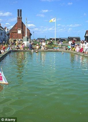 Model Boat Pond, Aldeburgh, Suffolk, England