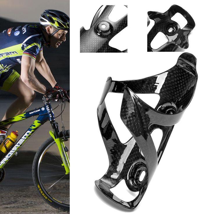 1X de Fibra de Carbono Completa Drink Bottle Holder Soporte Del Estante de la Jaula de Agua Al Aire Libre para el Ciclismo de Montaña Bicicleta de Carretera Bicicleta Ligero