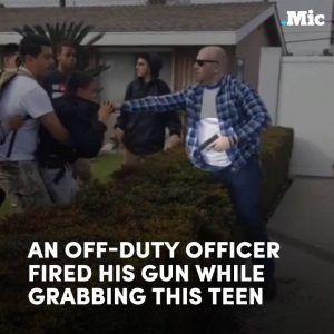 Horrifying new footage shows an off-duty cop shooting a gun at a group of teens in Anaheim #news #alternativenews