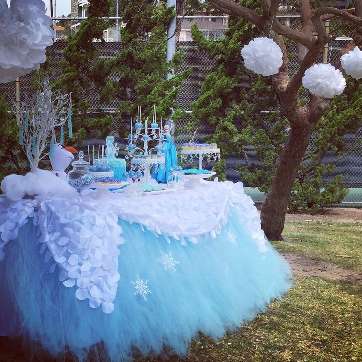 Frozen Dessert Table by Bizzie Bee Creations