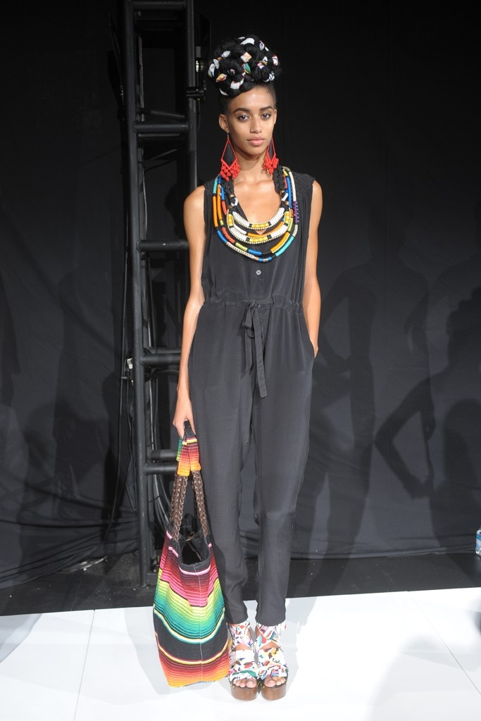 Tibal jewelry from Mara Hoffman. The beadwork kind of reminds me of what I saw from the Masai. @marahoffman #NYFW