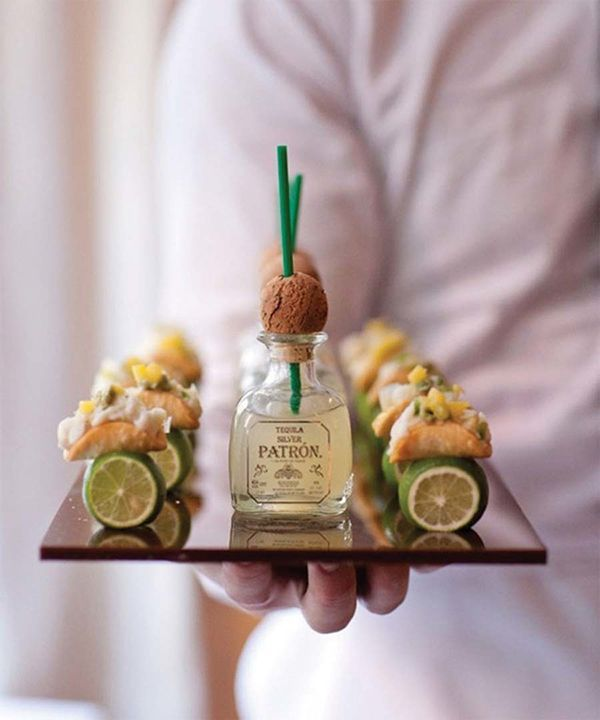 Tacos and tequila are sure to please the tastebuds of any Cinco de Mayo crowd. New York caterer Peter Callahan's fun-sized presentation of this perfect pairing is a stroke of culinary genius. | Photo by Mel Barlow
