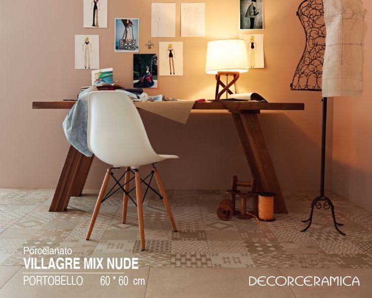Redescubre lo mejor del pasado con este piso en porcelanato estilo retro. #Decorceramica  bit.ly/1SnVtQ6