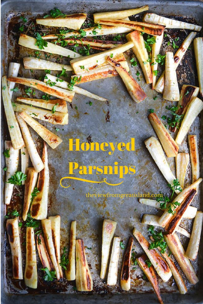 Roasted and Honeyed Parsnips are an easy and unique side dish!