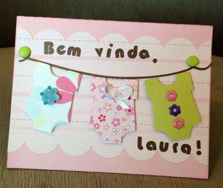 Scrapbook card for newborn baby girl.