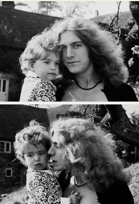 Robert Plant and daughter Carmen Jane,born 1968 first born & only daughter of Robert Plant