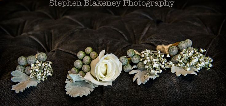 Brunia berry boutonnieres by Scentiment Flowers, pic by Blakeney Photography