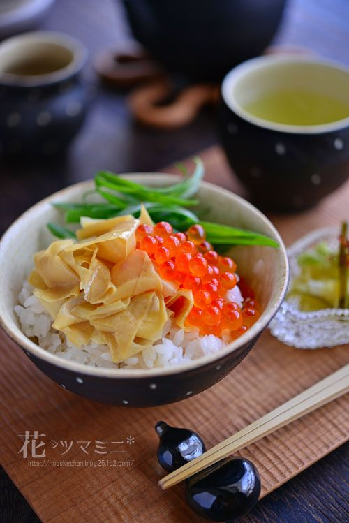 Yuba (Tofu Skin) and Ikura (Salmon Caviar) Rice Bowl 湯葉いくら丼