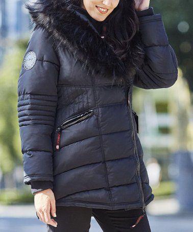 7b152e9d8 Canada Weather Gear Olive & Tan Faux Fur-Collar Puffer Jacket - Women &  Plus | zulily