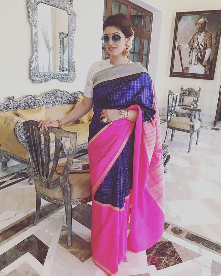 "26.2k Likes, 212 Comments - Twinkle Khanna (@twinklerkhanna) on Instagram: ""A sari is non-judgemental, accommodating and forgiving in nature- I wish we had more friends like…"""