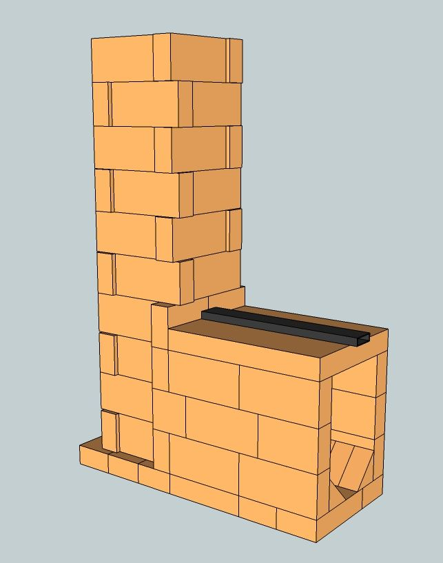 Simple Brick Batch Rocket Core Rocket Stove Rocket