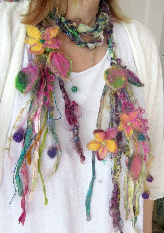 enchanted forest fantasy fairy garland lariat by beautifulplace