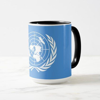 #UN Flag Mug - #drinkware #cool #special