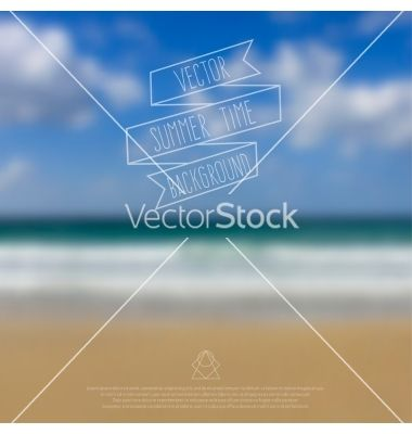 Blurred sea beach background with symbol text and vector by Paket on VectorStock®