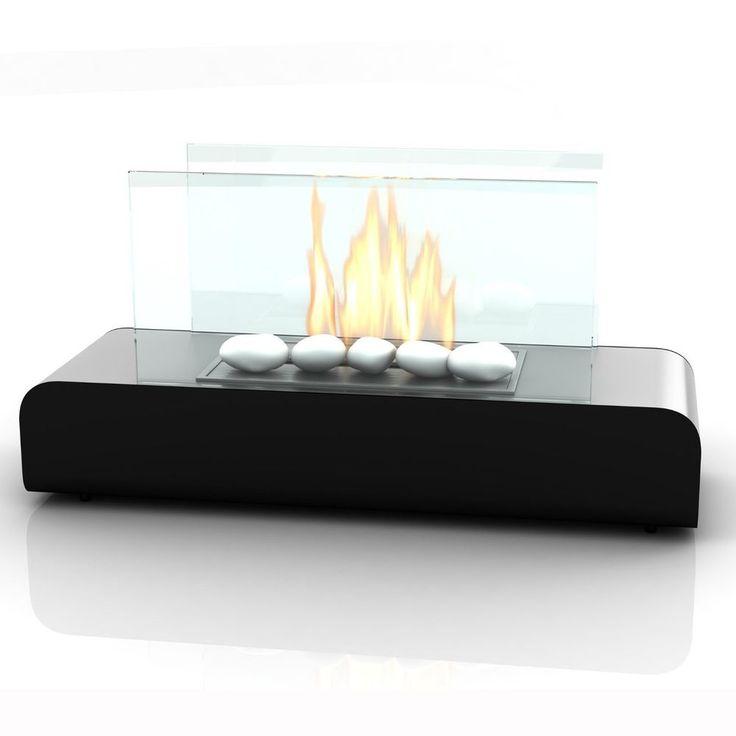 chimenea de bioetanol de imagin modelo dalton color negro