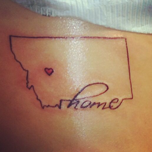 Home is where the heart is. Montana tattoo. Done my Dermawerx! I love it!