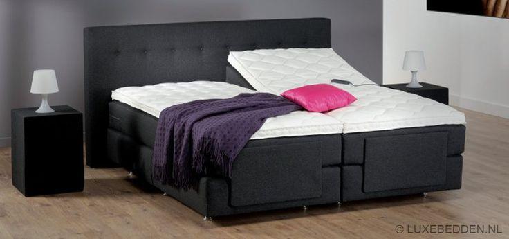 #bed #antraciet #slaapkamer