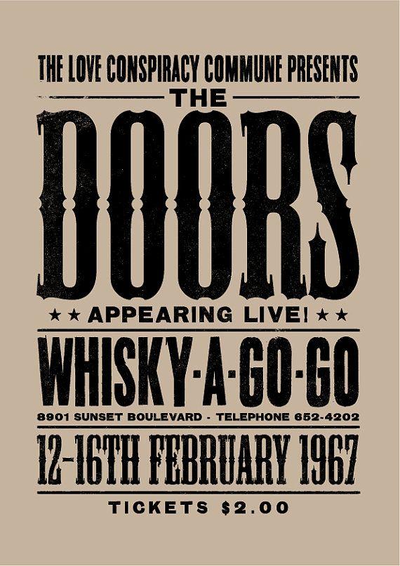 The Doors concert poster The Doors art print par TheIndoorType