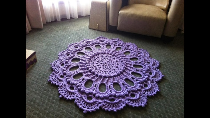 "Crochet doily rug ""splendid"" pattern of same name by Patricia kristoffersen ❤ hand made by missy d designs"