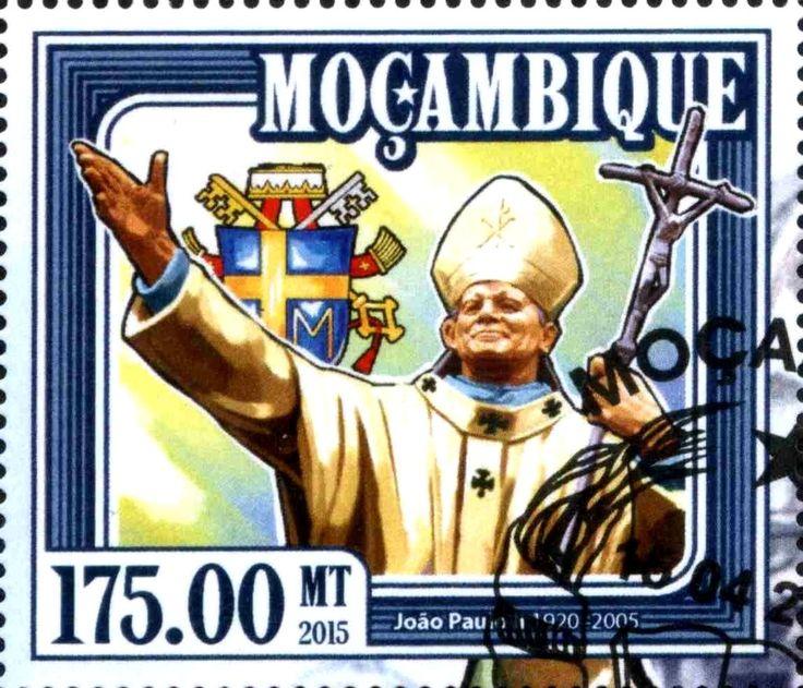 Stamp: John Paul II (Mozambique) Col:MZ 2015-02/1