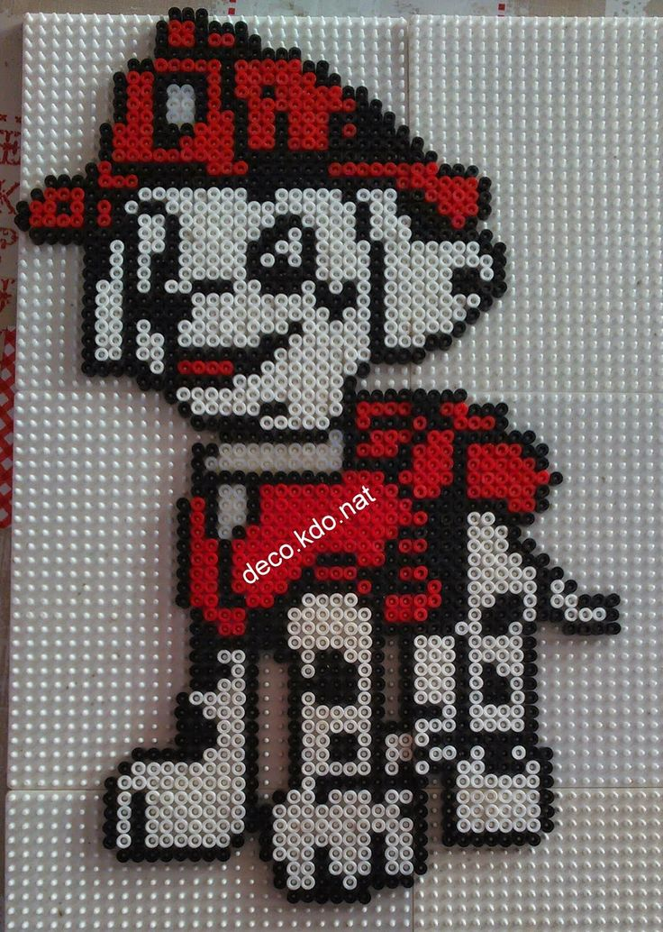 deco kdo nat perles hama marcus de la pat 39 patrouille paw patrol perler beads projects. Black Bedroom Furniture Sets. Home Design Ideas