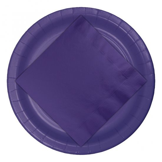 Paarse wegwerp borden 8 stuks  Paarse papieren borden. Deze paarse borden zitten verpakt per 8 stuks en hebben een inhoud van 256 ml. Deze paarse wegwerp borden zijn gemaakt van stevig papier/karton.  EUR 2.95  Meer informatie