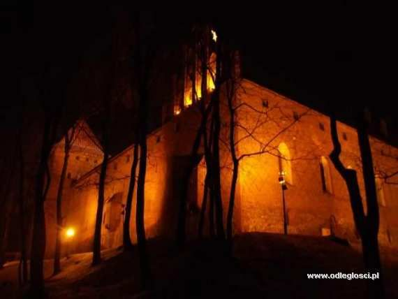 Zamek krzyżacki nocą - Nidzica