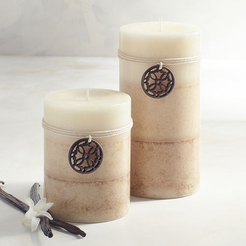 Cuban Vanilla Layered Pillar Candles | Pier 1 Imports