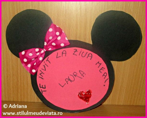 Tutorial invitatie petrecere Minnie Mouse