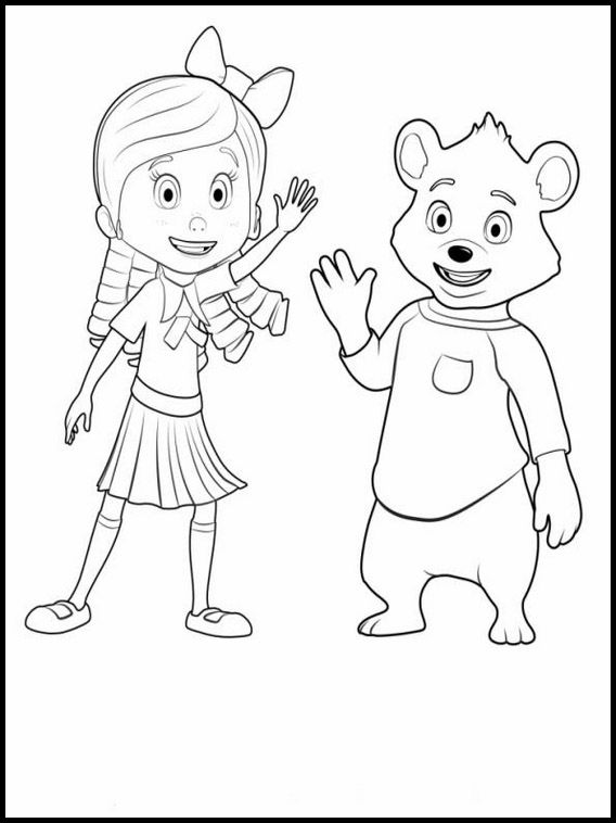 Goldie And Bear 1 Printable Coloring Pages For Kids Bear Coloring Pages Bear Coloring Coloring Pages