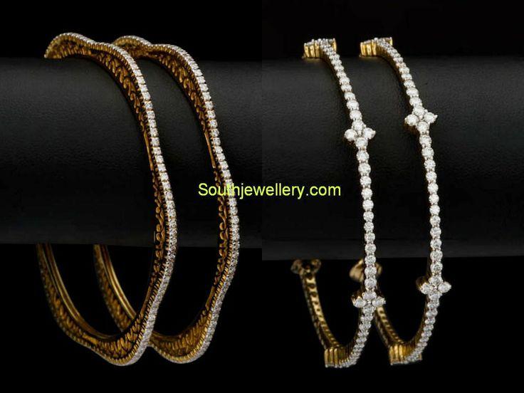 simple diamond bangles