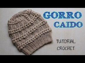 Gorro a crochet punto fantasía con detalles en punto puff - Tutorial Paso a paso - YouTube