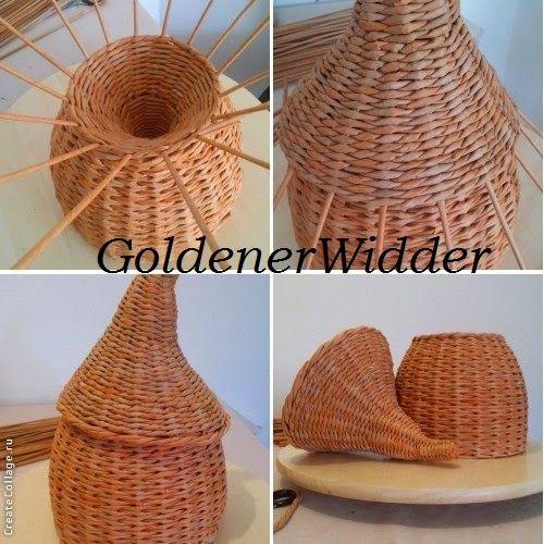 Плетение из газетных трубочек: Домик для пасхальных яичек.