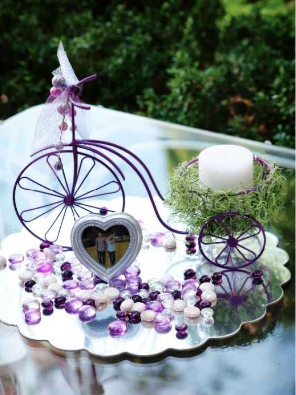 vintage bikes centerpieces | bicycle candle flower holder centerpieces $ 40 state vermont seller ...