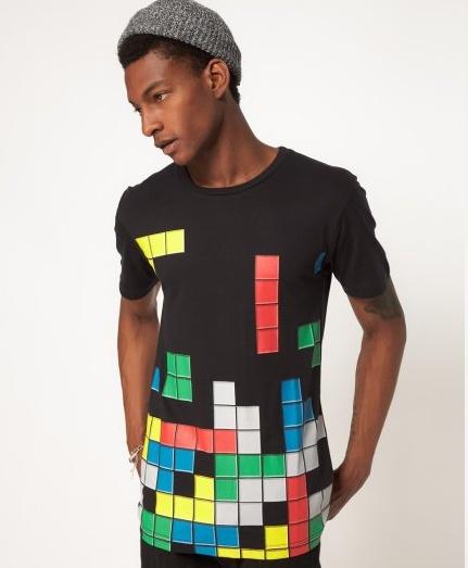 Camiseta etampado tetris exclusiva Asos