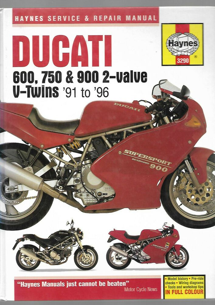 haynes ducati 600 750 900 2 valve v twins supersport monster superlight srm  3290 #ducati