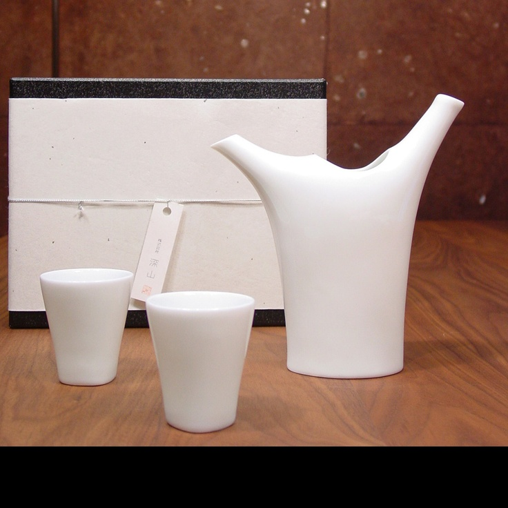 Miyama Sumi Sake Set - The Miyama is a collection of contemporary Japanese style ceramics manufactured by Japanese tableware company Miyama, who has won 5 Good Design Awards in Japan.